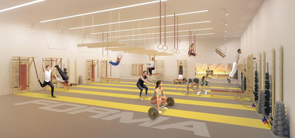 The gym design forma equipment for Gimnasio gym forma